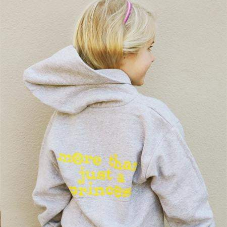 """More Than Just a Princess"" Hoodie (Kids) - Grey"
