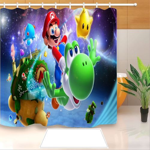 Mario #10 Shower Curtain Waterproof Bath Curtains Bathroom Decor With Hooks