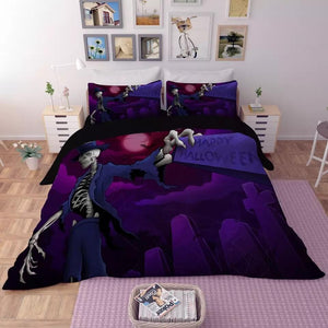 Halloween Horro Pumpkin Ghost #11 Duvet Cover Quilt Cover Pillowcase Bedding Set Bed Linen