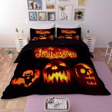 Load image into Gallery viewer, Halloween Horro Pumpkin Ghost #13 Duvet Cover Quilt Cover Pillowcase Bedding Set Bed Linen