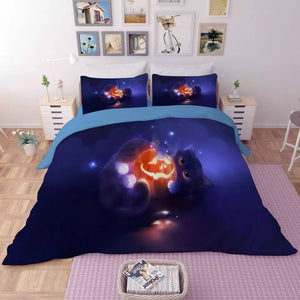 Halloween Horro Pumpkin Ghost #17 Duvet Cover Quilt Cover Pillowcase Bedding Set Bed Linen