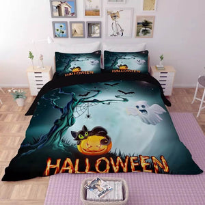 Halloween Horro Pumpkin Ghost #23 Duvet Cover Quilt Cover Pillowcase Bedding Set Bed Linen
