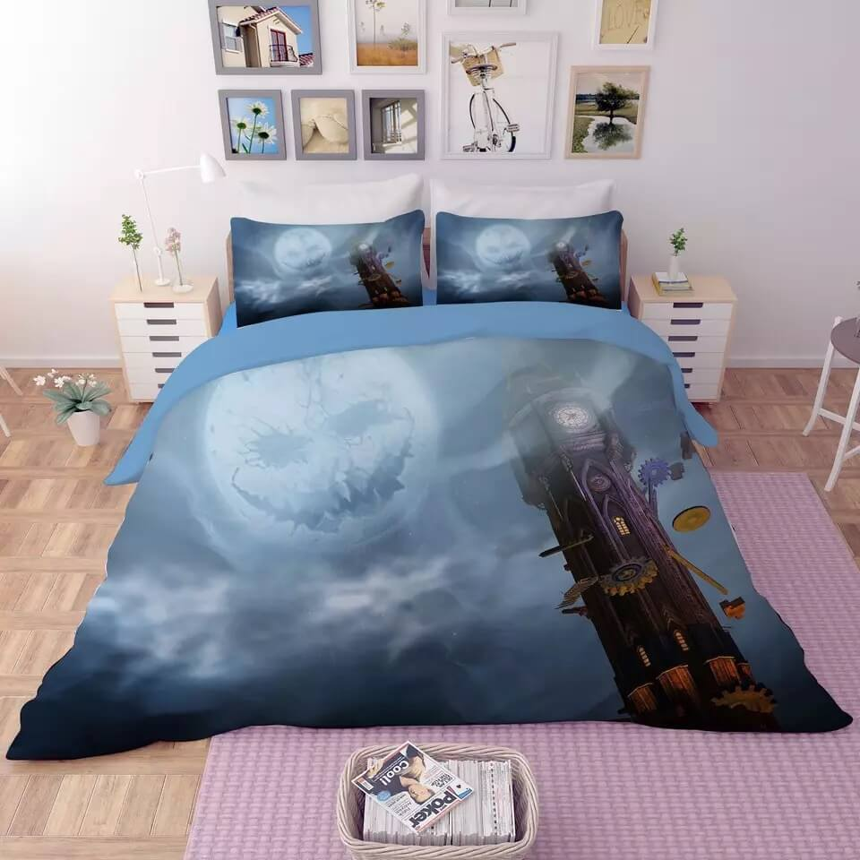 Halloween Horro Pumpkin Ghost #24 Duvet Cover Quilt Cover Pillowcase Bedding Set Bed Linen