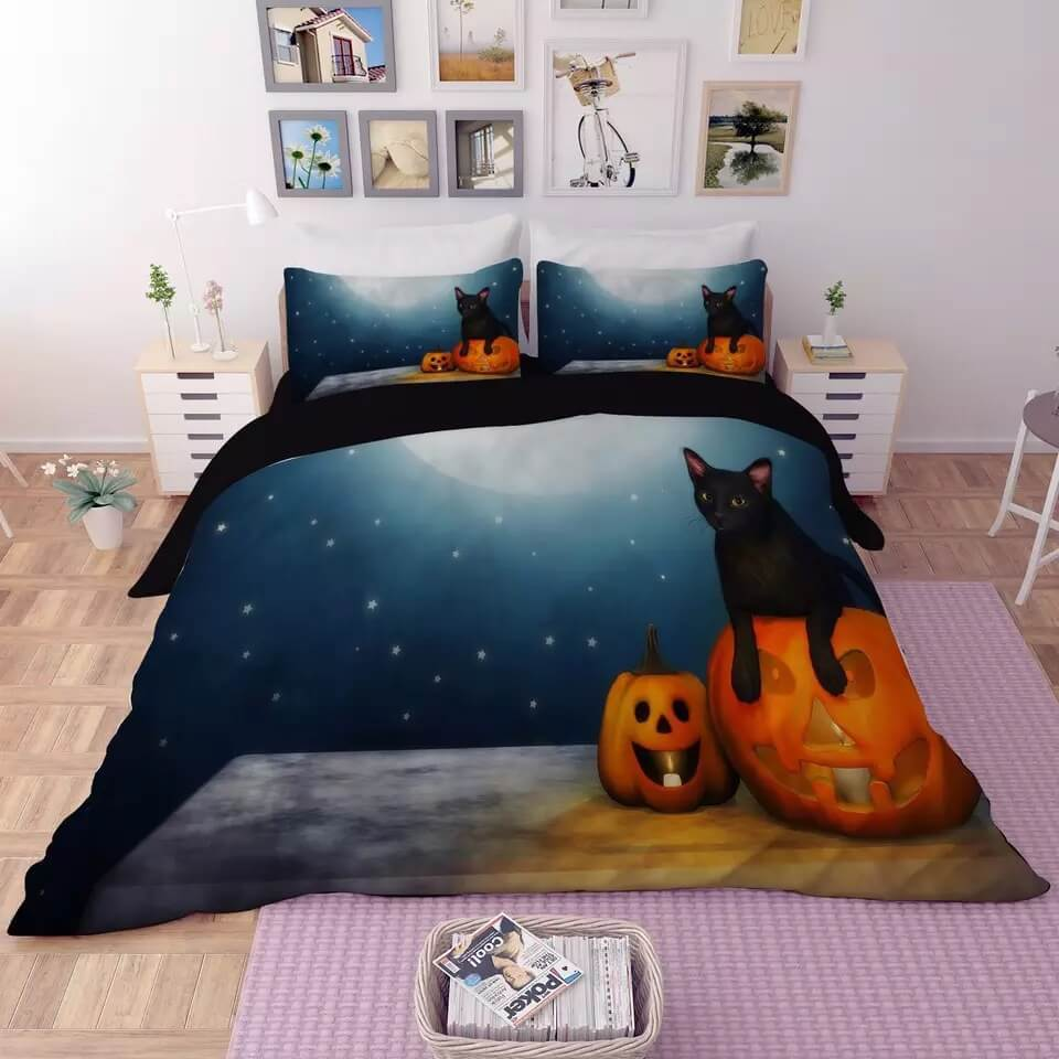 Halloween Horro Pumpkin Ghost #26 Duvet Cover Quilt Cover Pillowcase Bedding Set Bed Linen
