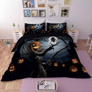 Halloween Horro Pumpkin Ghost #3 Duvet Cover Quilt Cover Pillowcase Bedding Set Bed Linen