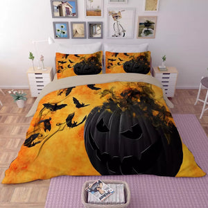 Halloween Horro Pumpkin Ghost #6 Duvet Cover Quilt Cover Pillowcase Bedding Set Bed Linen