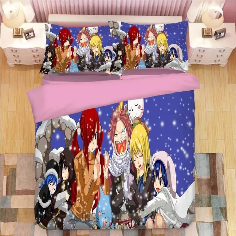 Fairy Tail #6 Duvet Cover Quilt Cover Pillowcase Bedding Set Bed Linen