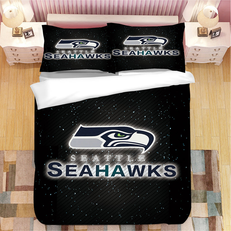 Seattle Seahawks NFL #18 Duvet Cover Quilt Cover Pillowcase Bedding Set Bed Linen Home Bedroom Decor