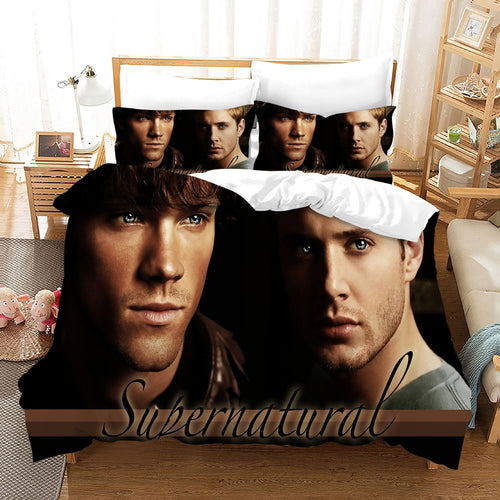 Supernatural Dean Sam Winchester #20 Duvet Cover Quilt Cover Pillowcase Bedding Set Bed Linen Home Decor