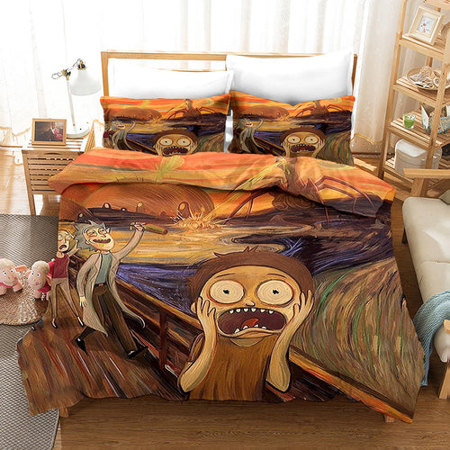 Rick and Morty Season 4 #10 Duvet Cover Quilt Cover Pillowcase Bedding Set Bed Linen Home Bedroom Decor