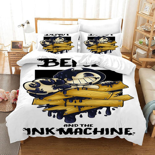 Bendy And The Ink Machine #50 Duvet Cover Quilt Cover Pillowcase Bedding Set Bed Linen Home Bedroom Decor