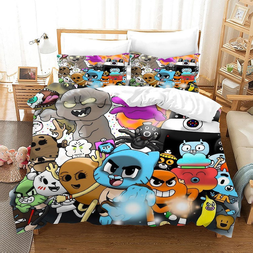 The Amazing World of Gumball #10 Duvet Cover Quilt Cover Pillowcase Bedding Set Bed Linen Home Bedroom Decor