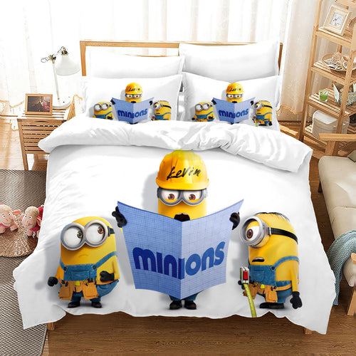 Despicable Me Minions #40 Duvet Cover Quilt Cover Pillowcase Bedding Set Bed Linen Home Decor
