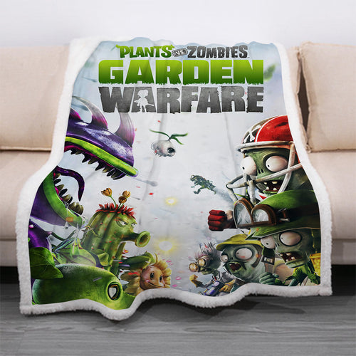 Plants vs Zombies #9 Blanket Super Soft Cozy Sherpa Fleece Throw Blanket for Men Boys