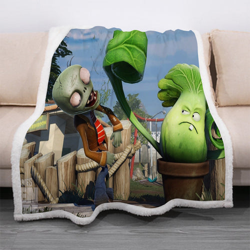 Plants vs Zombies #8 Blanket Super Soft Cozy Sherpa Fleece Throw Blanket for Men Boys