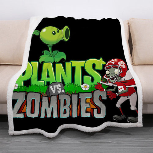 Plants vs Zombies #5 Blanket Super Soft Cozy Sherpa Fleece Throw Blanket for Men Boys