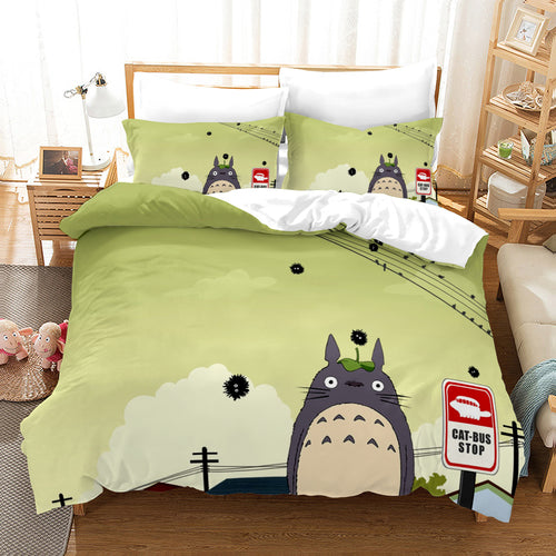 Tonari no Totoro #38 Duvet Cover Quilt Cover Pillowcase Bedding Set Bed Linen Home Decor