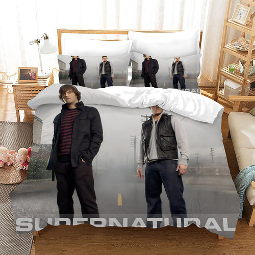 Supernatural Dean Sam Winchester #21 Duvet Cover Quilt Cover Pillowcase Bedding Set Bed Linen Home Decor