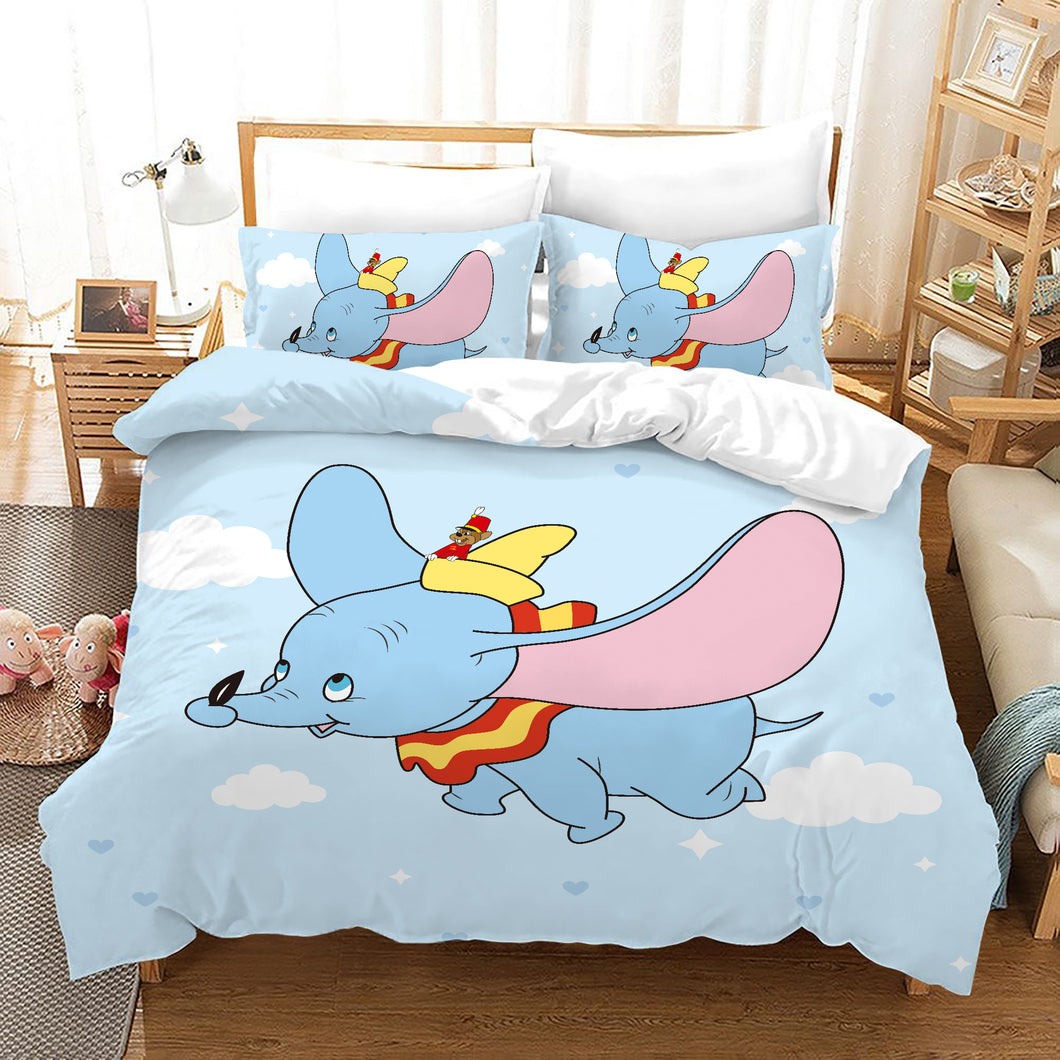 Dumbo #11 Duvet Cover Quilt Cover Pillowcase Bedding Set Bed Linen Home Bedroom Decor