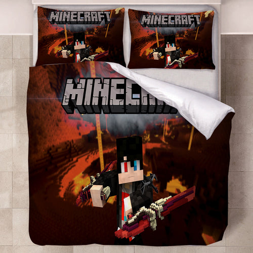 Minecraft #41 Duvet Cover Quilt Cover Pillowcase Bedding Set Bed Linen Home Decor