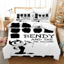 Load image into Gallery viewer, Bendy And The Ink Machine #51 Duvet Cover Quilt Cover Pillowcase Bedding Set Bed Linen Home Bedroom Decor