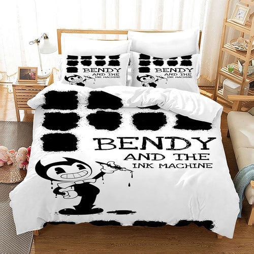 Bendy And The Ink Machine #51 Duvet Cover Quilt Cover Pillowcase Bedding Set Bed Linen Home Bedroom Decor