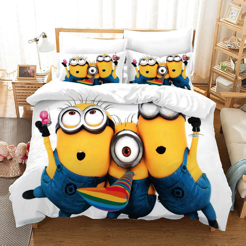 Despicable Me Minions #41 Duvet Cover Quilt Cover Pillowcase Bedding Set Bed Linen Home Decor