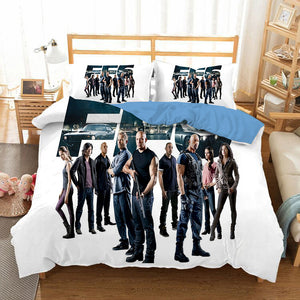 Fast & Furious #11 Duvet Cover Quilt Cover Pillowcase Bedding Set Bed Linen Home Bedroom Decor