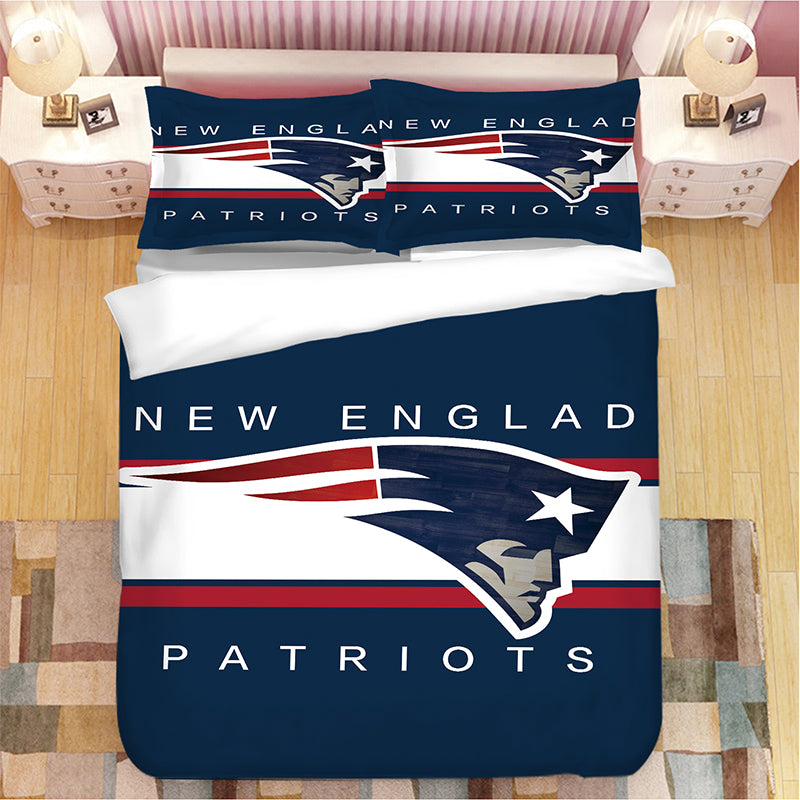 New England Patriots NFL #22 Duvet Cover Quilt Cover Pillowcase Bedding Set Bed Linen Home Bedroom Decor
