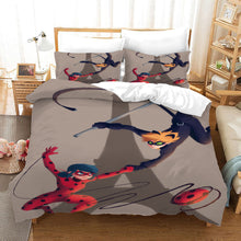 Load image into Gallery viewer, Miraculous Ladybug Cat Noir #20 Duvet Cover Quilt Cover Pillowcase Bedding Set Bed Linen Home Bedroom Decor