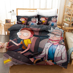Rick and Morty Season 4 #12 Duvet Cover Quilt Cover Pillowcase Bedding Set Bed Linen Home Bedroom Decor