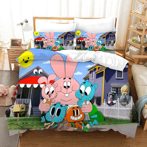 The Amazing World of Gumball #12 Duvet Cover Quilt Cover Pillowcase Bedding Set Bed Linen Home Bedroom Decor