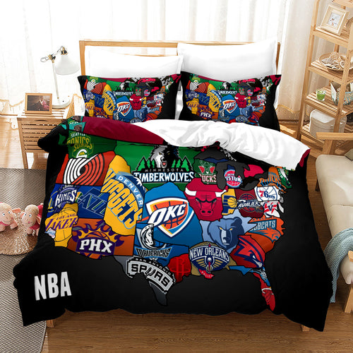 Basketball Logo Basketball #12 Duvet Cover Quilt Cover Pillowcase Bedding Set Bed Linen Home Bedroom Decor
