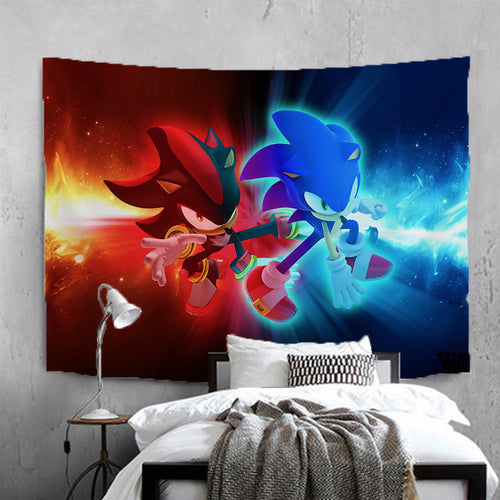 Sonic The Hedgehog #14 Wall Decor Hanging Tapestry Home Bedroom Living Room Decorations