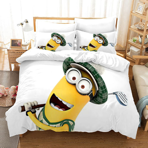 Despicable Me Minions #42 Duvet Cover Quilt Cover Pillowcase Bedding Set Bed Linen Home Decor