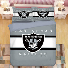 Load image into Gallery viewer, Las Vegas Raiders NFL #2 Duvet Cover Quilt Cover Pillowcase Bedding Set Bed Linen Home Bedroom Decor