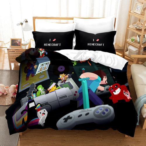 Minecraft #21 Duvet Cover Quilt Cover Pillowcase Bedding Set Bed Linen Home Bedroom Decor
