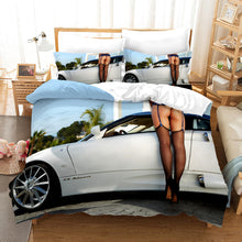Load image into Gallery viewer, The Motorcycle Girl #13 Duvet Cover Quilt Cover Pillowcase Bedding Set Bed Linen Home Bedroom Decor