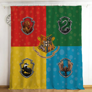 Harry Potter Hogwarts #13 Blackout Curtains For Window Treatment Set For Living Room Bedroom