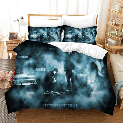 Supernatural Dean Sam Winchester #23 Duvet Cover Quilt Cover Pillowcase Bedding Set Bed Linen Home Decor