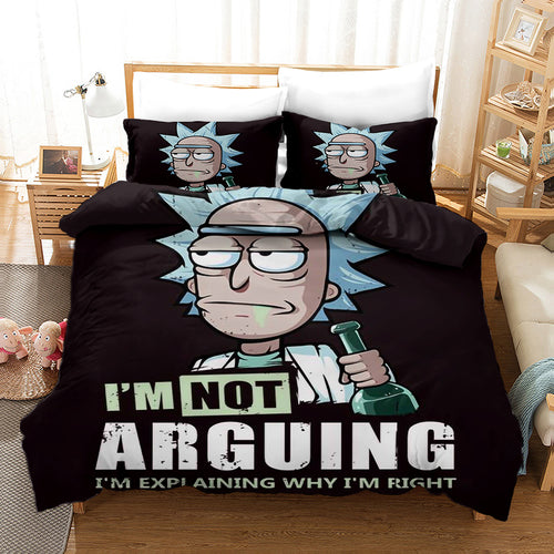Rick and Morty Season 4 #13 Duvet Cover Quilt Cover Pillowcase Bedding Set Bed Linen Home Bedroom Decor