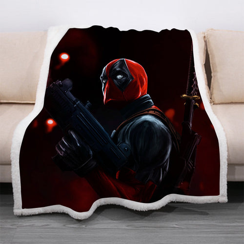 Deadpool #13 Blanket Super Soft Cozy Sherpa Fleece Throw Blanket for Men Boys