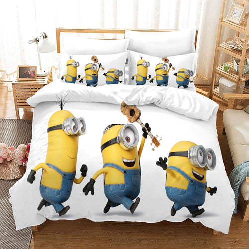 Despicable Me Minions #43 Duvet Cover Quilt Cover Pillowcase Bedding Set Bed Linen Home Decor