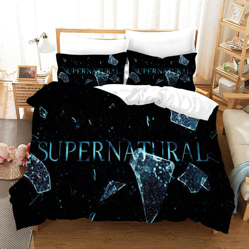 Supernatural Dean Sam Winchester #24 Duvet Cover Quilt Cover Pillowcase Bedding Set Bed Linen Home Decor