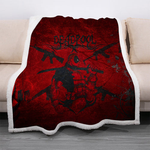 Deadpool #14 Blanket Super Soft Cozy Sherpa Fleece Throw Blanket for Men Boys
