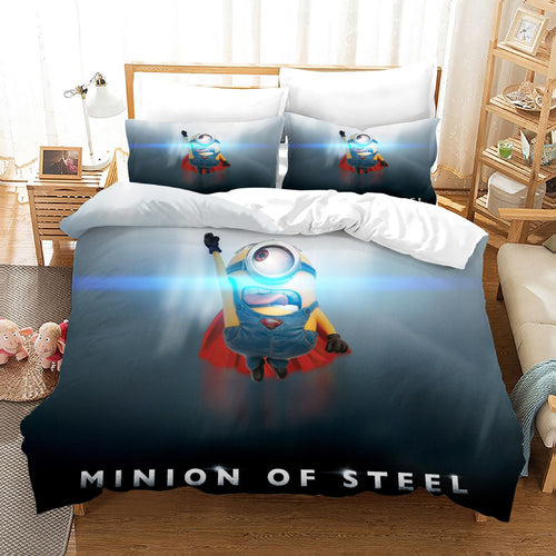 Despicable Me Minions #44 Duvet Cover Quilt Cover Pillowcase Bedding Set Bed Linen Home Decor