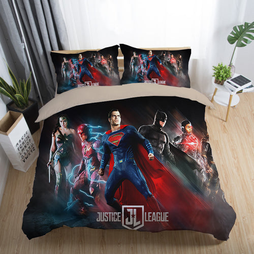 Justice League Wonder Woman Superman Batman The Flash Aquaman #14 Duvet Cover Quilt Cover Pillowcase Bedding Set Bed Linen Home Decor