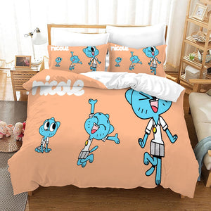 The Amazing World of Gumball #14 Duvet Cover Quilt Cover Pillowcase Bedding Set Bed Linen Home Bedroom Decor