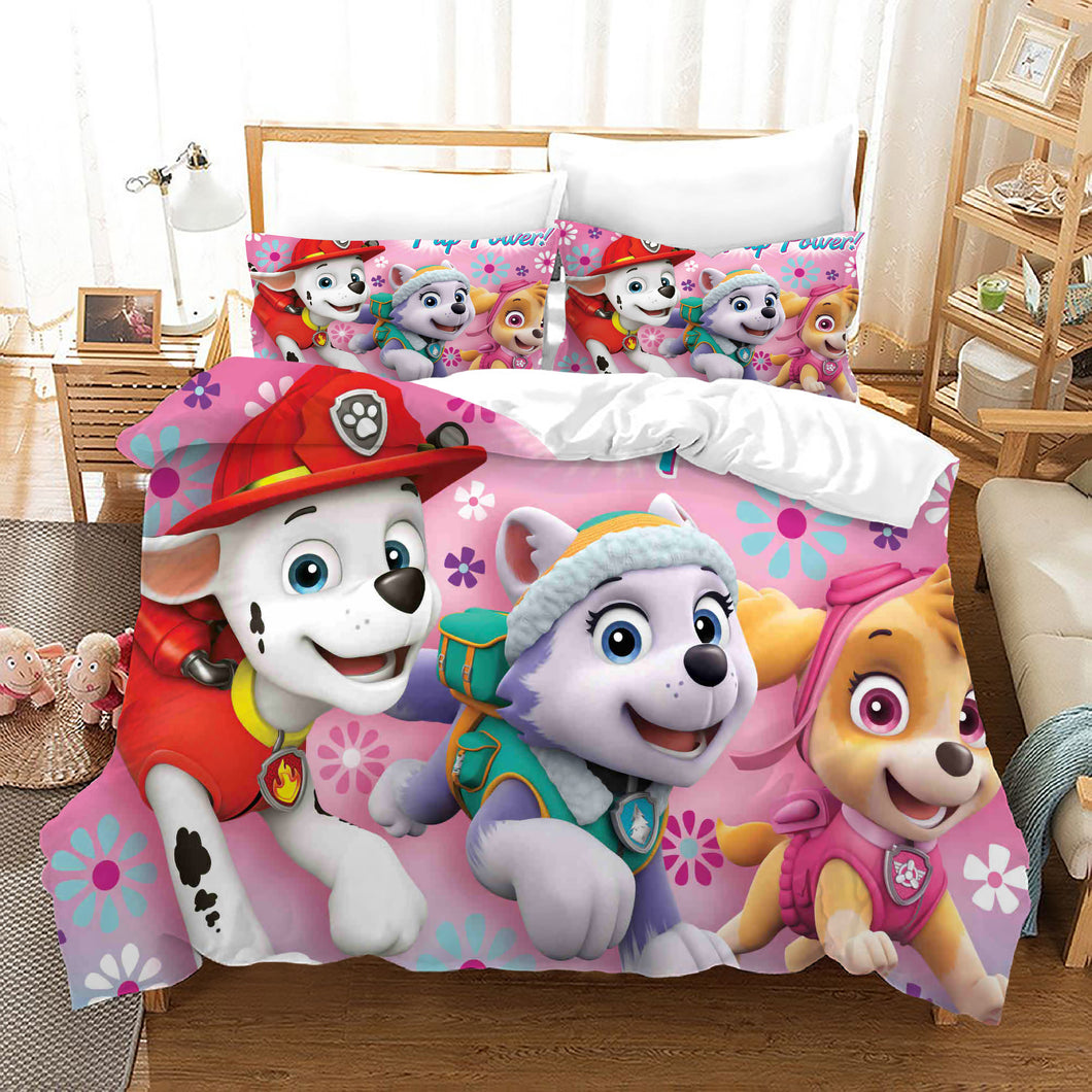 PAW Patrol Marshall #44 Duvet Cover Quilt Cover Pillowcase Bedding Set Bed Linen Home Decor