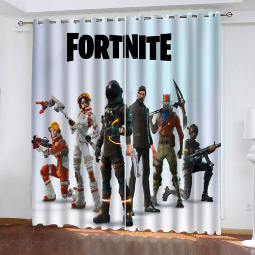 Fortnite Characters #2 Blackout Curtains For Window Treatment Set For Living Room Bedroom
